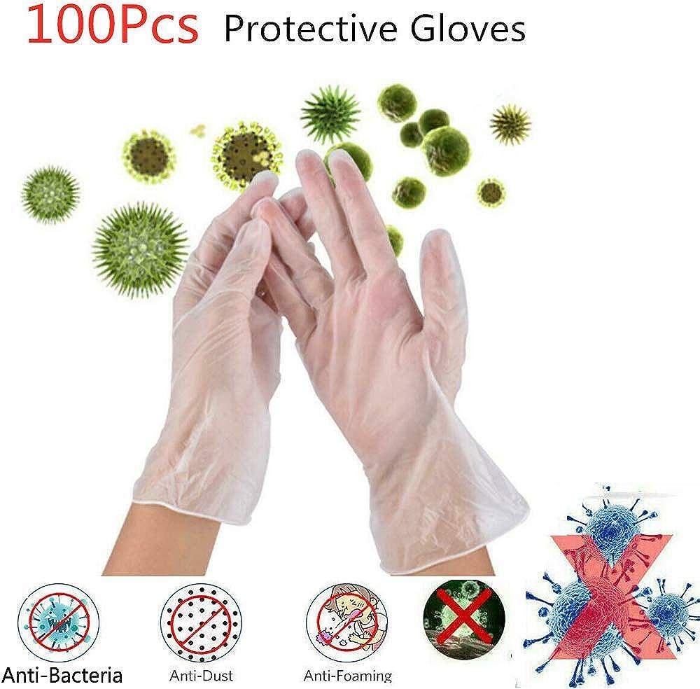 puderfrei 100 St/ück /Ärztehandschuhe PAYLZWZY Nitrilhandschuhe Einweghandschuhe latexfrei Virenschutz Handschuhe Nitril Handschuhe