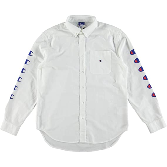 e57f127ab686 Champion Reverse Weave x Beams Button Down Oxford Shirt White: Amazon.co.uk:  Clothing