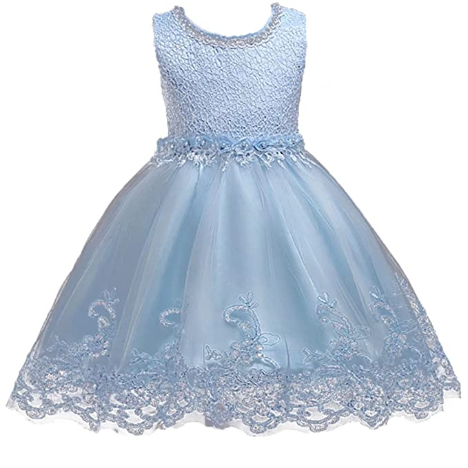 ADHS Kids Baby Girl Formal Occasion Wedding Gowns Flower Floral Lace ...