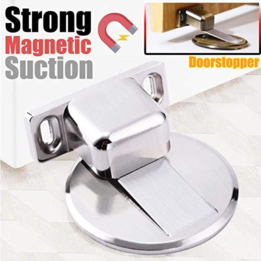 Green Bronze Floor Door Stopper 304 Stainless Steel Precision Casting Invisible Suction Anti-Collision Door Stop Strong Magnetic Door Touch Door Suction Without Perforating Suction