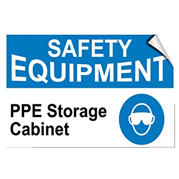 Safety Equipment Ppe Storage Cabinet Business LABEL DECAL STICKER 7 Inches  X 5 Inches
