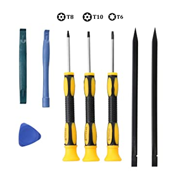 EEEKit Juego de Destornilladores Torx, Juego de Destornilladores de precisión Torx bit Precisión Juego de Herramientas de reparación de Palanca ...
