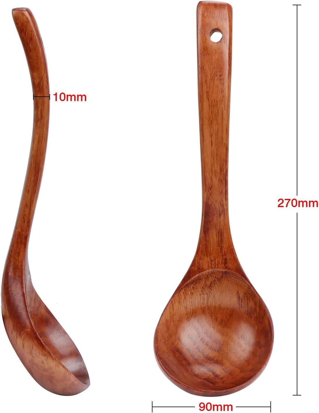 TsunNee Louche /à soupe en bois naturel 27 cm