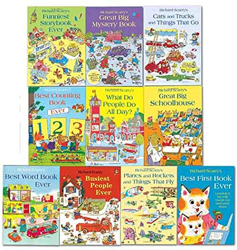 Richard Scarrys Best Collection Ever! 10 books collection. What do people do all day?... and other stories. (Cars And Trucks And Things That Go)