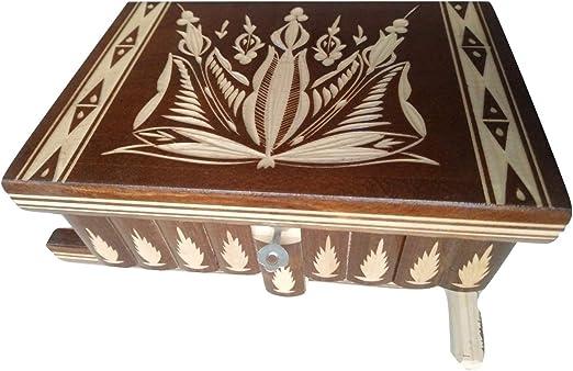 AZI Nueva Gran Caja Enorme Caja de Rompecabezas de Madera Secreto Misterio Tesoro mágica de la joyería Aventura de Almacenamiento Tallada Caja Puzzle Juguete para niños (Marrón): Amazon.es: Hogar