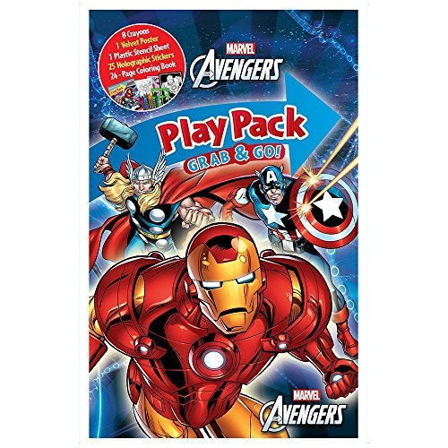 Bendon Publishing Avengers Party Supplies Playpack Activity Set