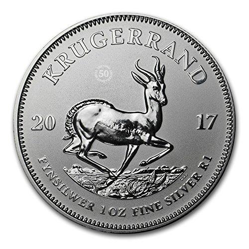 2017 ZA Krugerrand 2017 South Africa 1 oz Silver Krugerrand Premium Uncirculated Coin GEM Premium Uncirculated $1 Gem Uncirculated MS