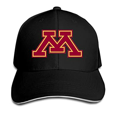 f2f48d5b547 EVALY Cute Unisex University Of Minnesota M Trucker Cap Hat Black at ...