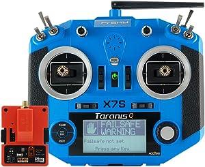 FrSky Taranis Q X7s Access 2.4GHz 24CH Mode2 Hall-Sensor Gimbals Transmitter with R9M 2019 Long Range Module - Blue
