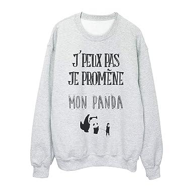 YouDesign Sweat shirt imprimé citation j peux pas je promene mon panda ref  2326 - e1b75cac8865