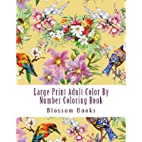 Large Print Adult Color By Number Coloring Book: Mega Jumbo Color By Numbers Coloring Book Over 130 Pages of Flowers, Seasons, Gardens, Animals, ... Stress Relief (Adult Color By Number Books)