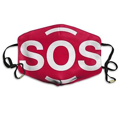 Unisex símbolo SOS Otoño Invierno respiración máscara resistente al viento a prueba de polvo Máscara de