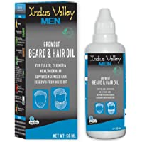 Indus Valley 100% organic men's Beard Oil for smooth beared - 60ML
