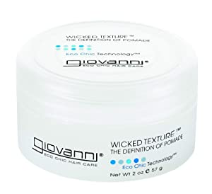 GIOVANNI Wicked Texture The Definition Of Pomade, 2 oz. Adds Separation to Shape, Smooth Texture for Ease of Use, Washes Out Easily, No Parabens, Color Safe (Pack of 1)