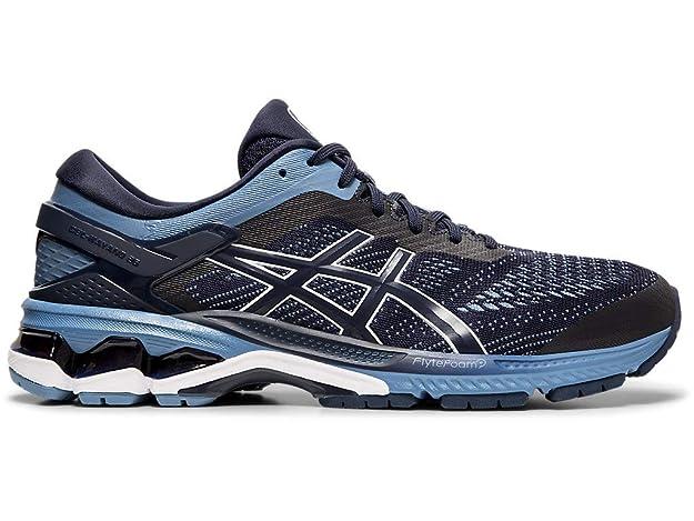 ASICS Men's Gel-Kayano 26 Running Shoes, 6M, Midnight/Grey Floss