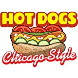 HOT DOGS BEST IN TOWN 24'' Concession Decal sign cart trailer stand sticker equipment