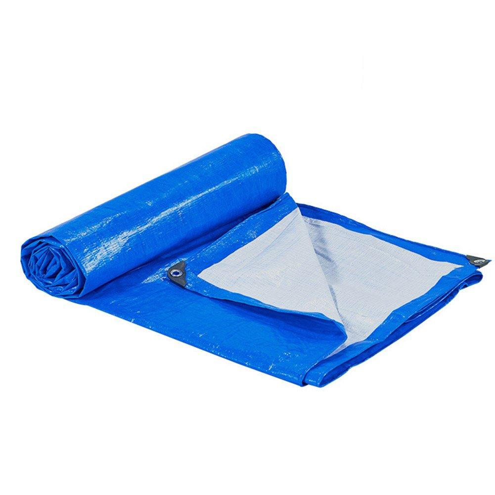 LQQGXL ターポリン、レインカバー、貨物トラック、雨、日光、サンシェード、アンチエイジング、折りたたみ可能な青、白 防水シート (色 : Blue+white, サイズ さいず : 4x4M) 4x4M Blue+white B07H9L936R