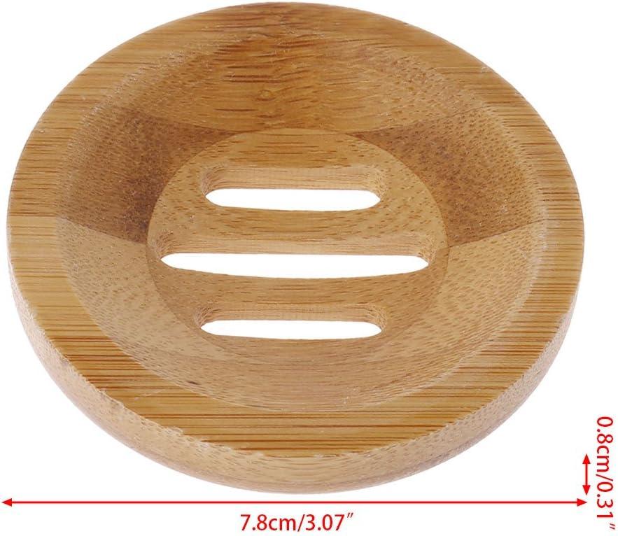 witgift Porte-savon en bois Noir En bambou naturel Avec bac d/égouttement