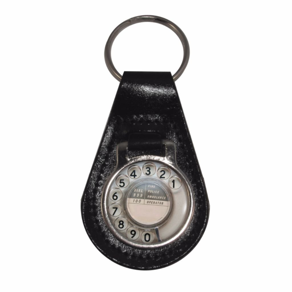 Leather with Keyring with Retro Leather Telephone Dial Telephone design B008OVFLII, hexagonny:340f4e90 --- awardsame.club