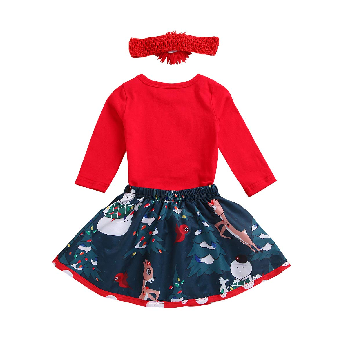 ac63e3b30e69 My First Christmas Holiday Newborn Baby Girl Outfit Romper Tutu Skirt  Headband Costume Merry Xmas Gift Party 3PCS Set 0-3 Months My First  Christmas ...