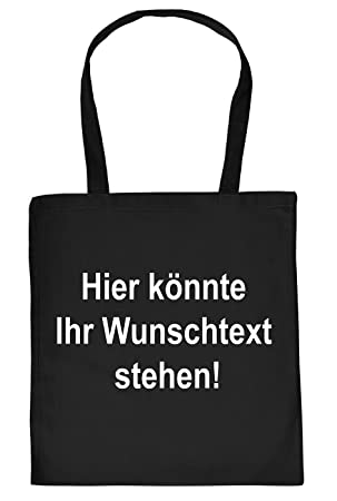 28a0f2a81b50b Stofftasche zum selbst gestalten - Mit Wunschtext u in Wunschfarbe -  Erstelle deine individuelle Tasche -