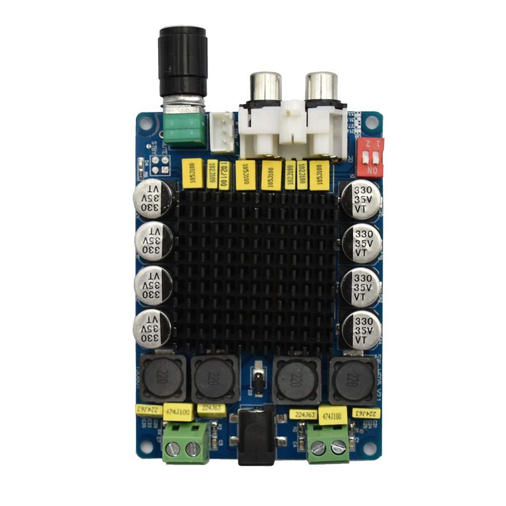 UKCOCO Scheda amplificatore audio digitale a doppio canale ad alta potenza d TDA7498 2 * 100W