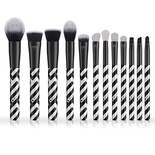 Makeup Brushes 12 Pcs DUcare Professional Natural Goat Face Eye Shadow Eyeliner Foundation Brushes