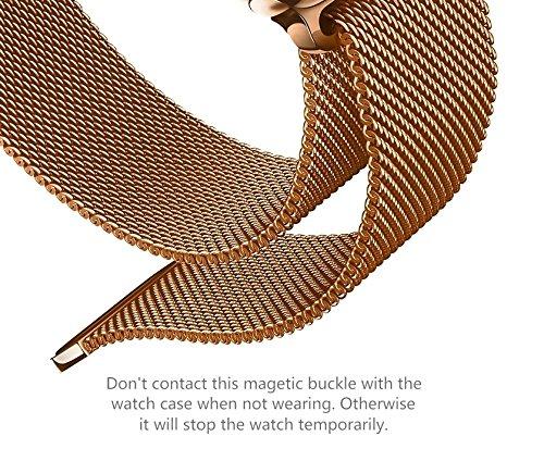 2c06e4ab11d6 MAMONA Womens Rose Gold Quartz Watch Gift Set Waterproof Mesh Band  Wristwatch Ultra Thin L3881RGGT