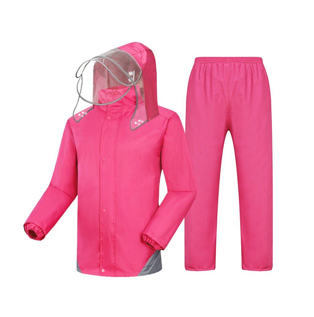 WQ-Regenjacken Einzelner männlicher und weiblicher aufgeteilter Regenmantel-Erwachsene Reitregen-Hosen-Satz kann wiederverwendet Werden (Farbe   schwarz, größe   XXXL) B07FJP7V3W Jacken Offizielle Webseite