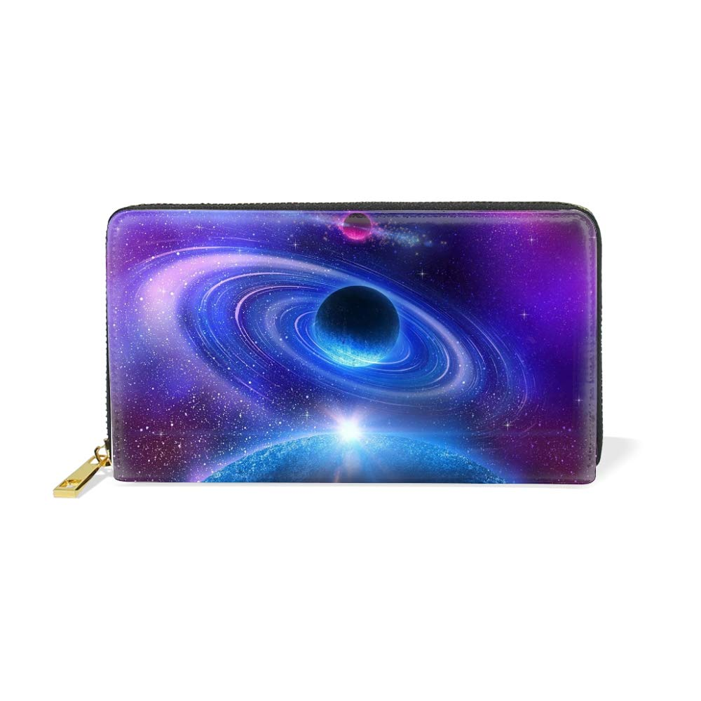 Cool Galaxy Zip Around Women Organizer Wallet Clutch Long Purse
