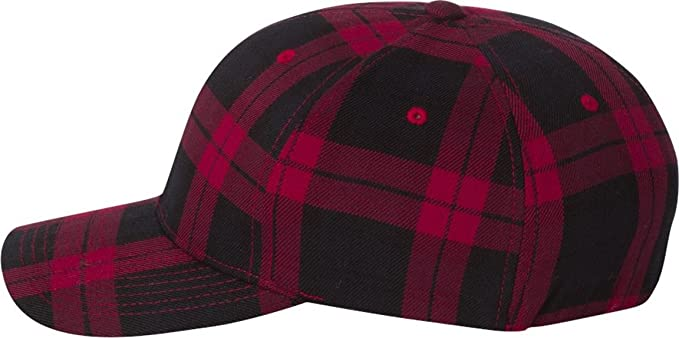 7bb8fc9f2f4 Flexfit 6197 - Tartan Plaid Cap at Amazon Men s Clothing store