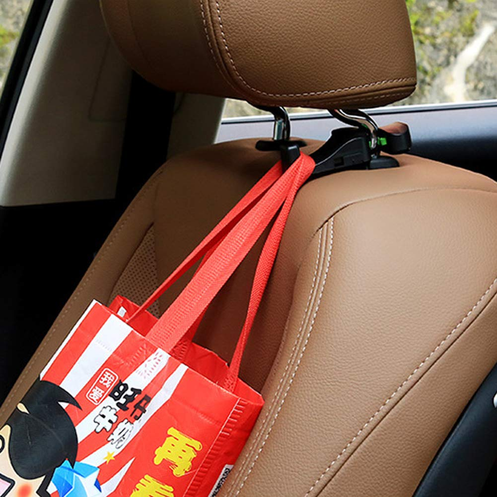- Black,Beige 2 Pairs WENTS Car Headrest Hanger for Handbags Purse Grocery Bags Coats,Car Rear Seat Hook with Lock,Rotatable Universal Car Backseat Organiser Car Headrest Hook