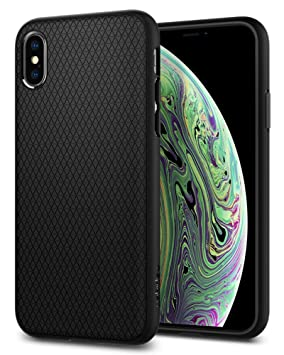 huge selection of 4d5ed a8111 Spigen [Liquid Air] iPhone XS Case, iPhone X Case 5.8 inch with Durable  Flex and Easy Grip Design for iPhone XS (2018) iPhone X (2017) 5.8 inch -  ...