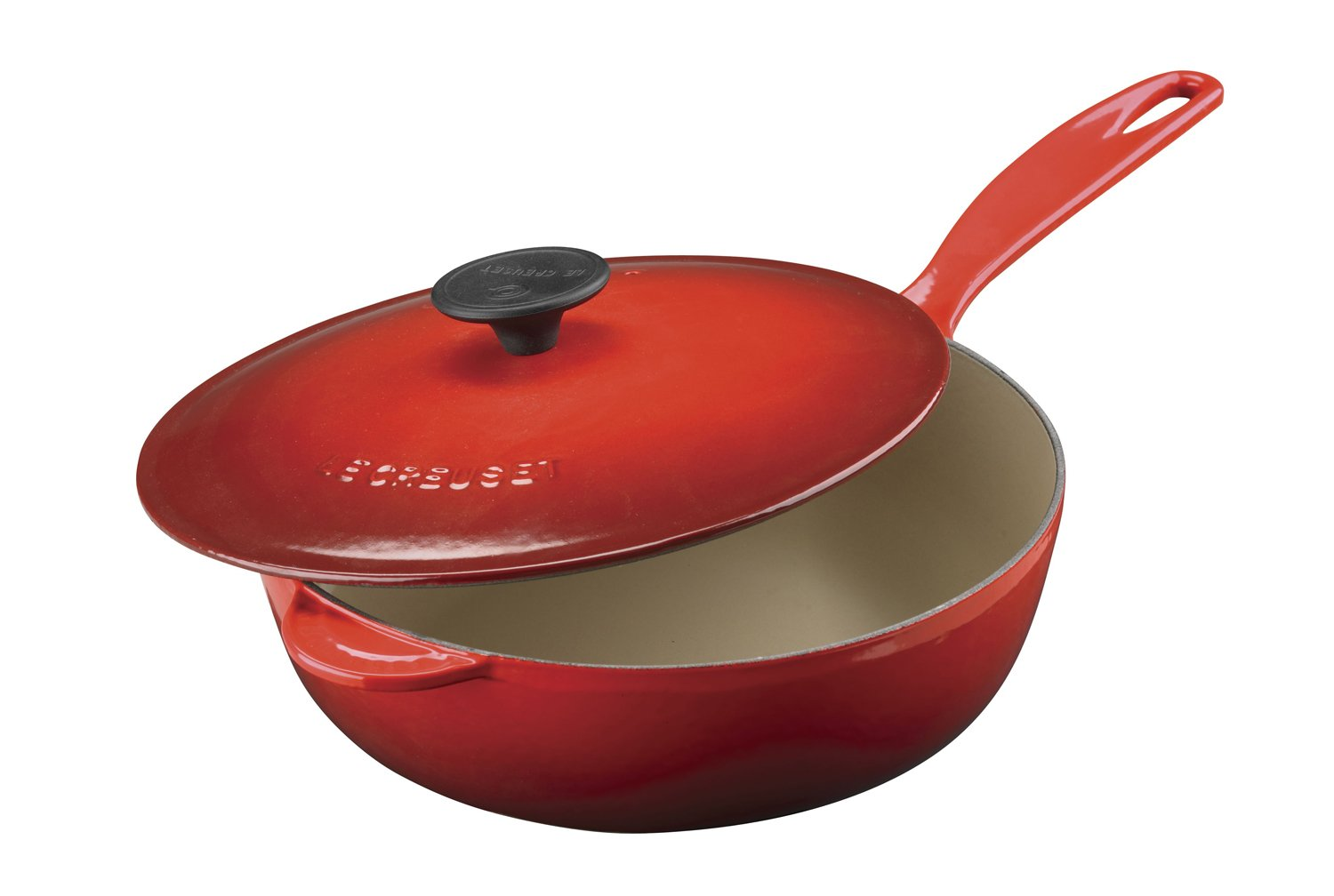 Le Creuset Enameled Cast-Iron 2-1/4-Quart Saucier Pan, Cerise (Cherry Red)