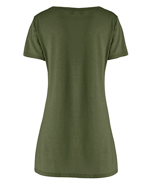 398b46facaf7 LVCBL Women Sexy Loose T-Shirt Dress Choker V Neck Short Sleeve Long Top 10  Colors S-3XL at Amazon Women s Clothing store