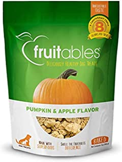 product image for Fruitables Dog Treats | Dog Training Treats | Low Calorie Crunchy Treats | Pumpkin & Apple Flavor