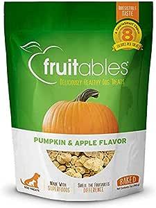 Fruitables Baked Dog Treats Pumpkin & Apple Flavor 7 Oz