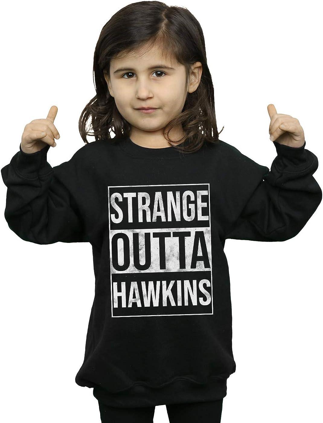 ABSOLUTECULT Drewbacca Girls Straight Outta Hawkins Sweatshirt