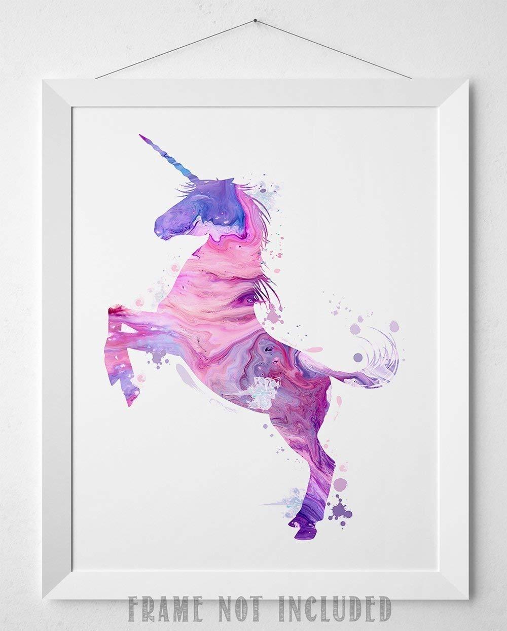 Amazon Com Pastel Painted Unicorn 11x14 Unframed Art Print