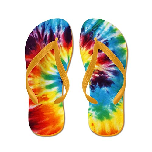 e2bd359deb63 Cafepress tie dye flip flops funny thong sandals beach sandals orange jpg  500x500 Tie dye sandals