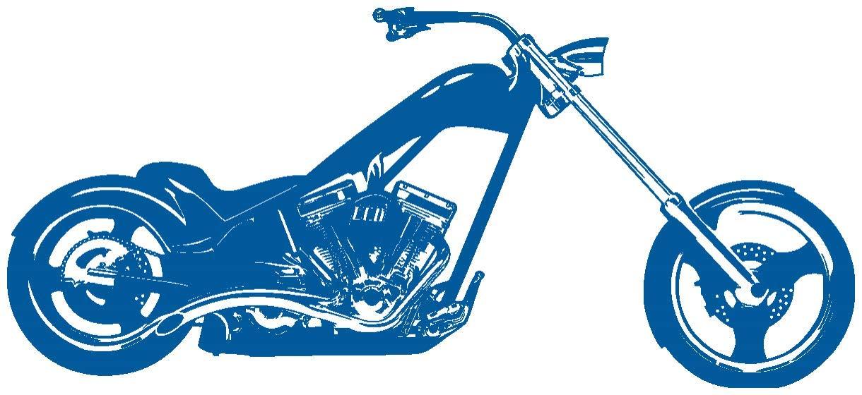 Samunshi® Wandtattoo Chopper Wandaufkleber Wandaufkleber Wandaufkleber in 10 Größen und 19 Farben (120x54cm schwarz) B006Y7GU1G Wandtattoos & Wandbilder 3f72bf