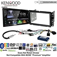 Volunteer Audio Kenwood Excelon DDX6904S Double Din Radio Install Kit with Satellite Bluetooth & HD Radio Fits 2013-2014 Buick Enclave, 2013-2014 Chevrolet Traverse (Bose and Onstar)