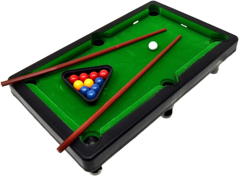 VENTURA TRADING Miniatura Piscina Snooker Mesa de Billar pequeña Mini Diversión en Juegos de Interior Practicar Deporte Juguete para niños Mini Mesa de Billar para niños Piscina Billar: Amazon.es: Juguetes y juegos