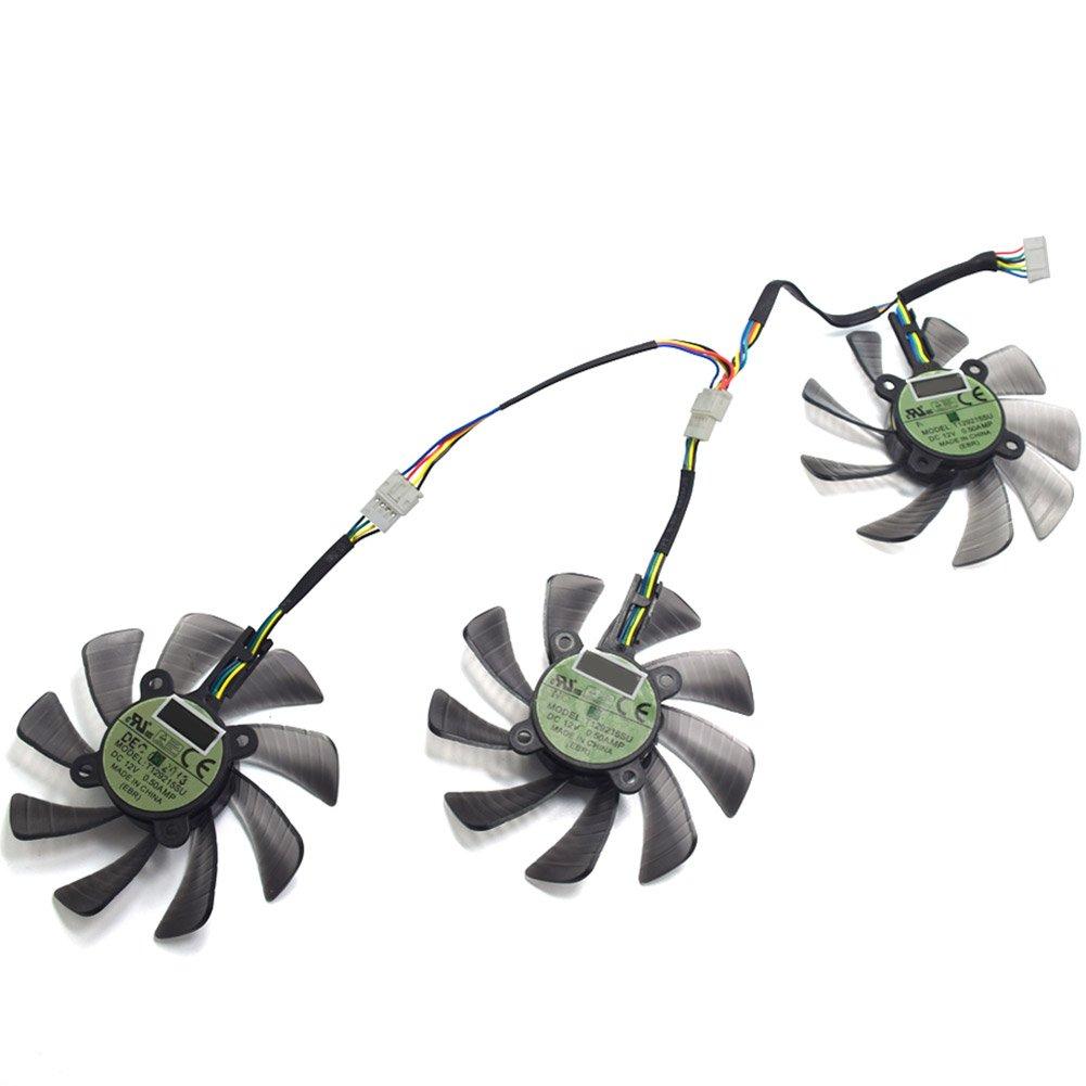 85MM T129215SU GTX 1060 1070 1080 RX470 RX 470 480 580 R9 390 GTX980Ti Fan For ASUS STRIX Raptor Fan by Z.N.Z (Image #4)