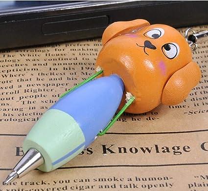 1 Piezas Mini Bolígrafos Dibujos Animados Perro Bolígrafo Pluma Papelería Llavero Decoración por SamGreatWorld