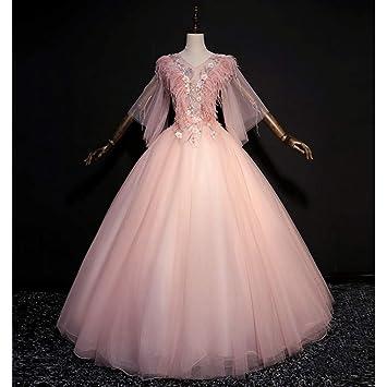 QAQBDBCKL Siglo XIX Pluma Rococó Mariposa Vestido De Bola Cosplay Vestido Medieval Vestido Renacentista Reina Cosplay Vestido De Victoria