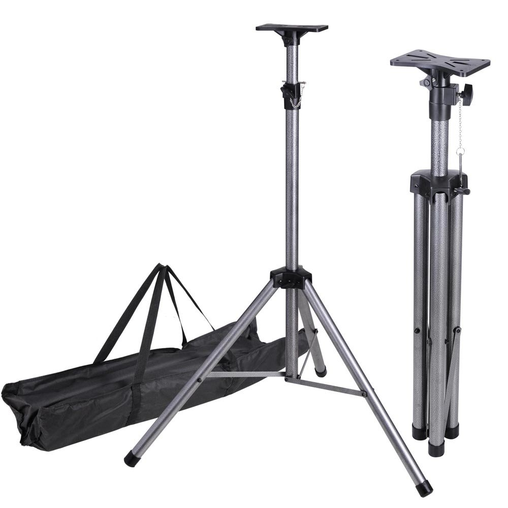 AW Pair of Universal DJ PA Speaker Lighting Tripod Support Stand Height Adjustable 39''-73'' Load 132lbs with Carrying Bag