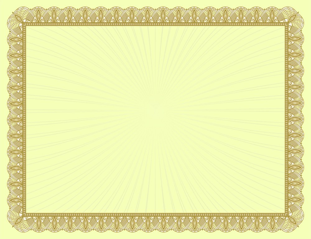 Metallic Gold Value Certificate and Gold Foil Seals 8.5 x 11 Great Papers 25 Count 20104067