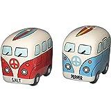 Chesapeake Bay Ceramic Surfer Van Design Salt and Pepper Set 68694 2.75 Inches x 1.75 Inches x 2.3 Inches