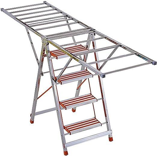 FXYY Tendedero para Secar La Ropa Tarea Pesada 2 En 1 Escalera De Escalera De Secado